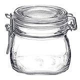 Vaso vasetto terrina in vetro per conserve anche per servire da 500 ml della Bormioli Rocco modello Fido chiusura ermetica confezione 6 pezzi