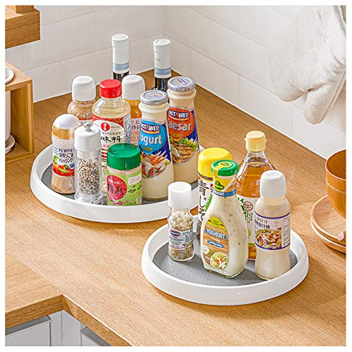 2 Pack Lazy Susan Spice Rack, Rotatable Organiser, Condiment Holder Free...