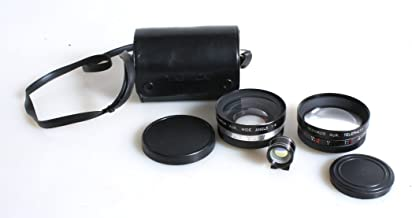 YASHICA TELEPHOTO & WIDE ANGLE LENS SET FOR ELECTRO 35 GS CAMERA WITH VIEWFINDER