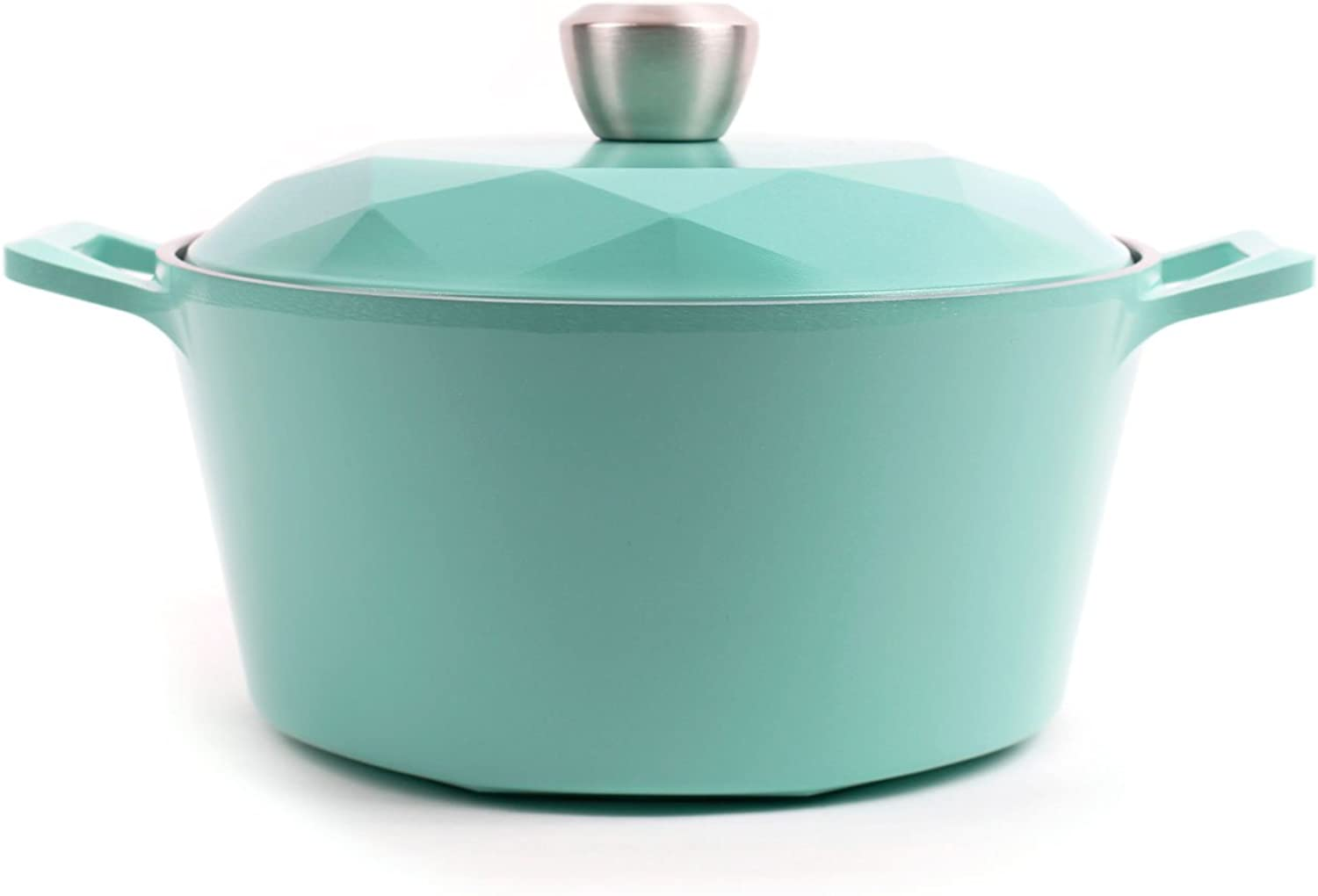 Neoflam Carat 4QT Ceramic Nonstick Stockpot with Oven-Safe Lid in Fresh Green