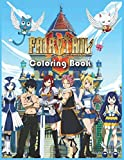 Fairy Tail Coloring Book: Great Book For Fairy Tail Anime Fans, Gift For Manga Lovers, Unique Illustrations For Adults and Kids, for Relaxation and Stress Relief