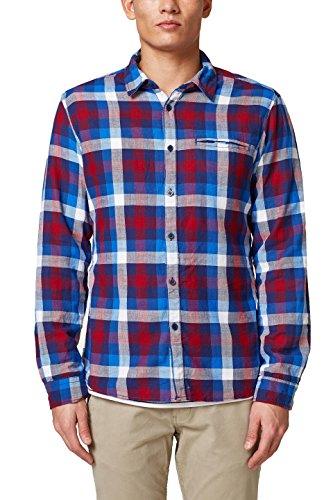 edc by ESPRIT Herren 018CC2F006 Freizeithemd, Blau (Blue 430), Medium