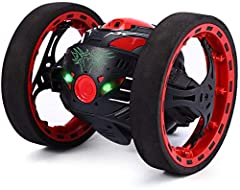 ✦RC Bounce Car✦ Amazing toy car can jump 31.5 inches high in the air; cruiseat 7km/H; Moves with fun lights and sounds, a variety of stunts bring you more fun. ✦2.4GHz Transmitter✦ Remote control distance up to 30-45m (98-147 ft) in open area. Anti-...