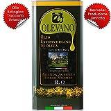 5 Litri Olio Extravergine d'Oliva 100% Italiano | Frantoio Fierro | Tracciabilità UNASCO Lotto di Produzione | Confezione in Latta Salvaspazio | Estratto a Freddo | Idea Regalo