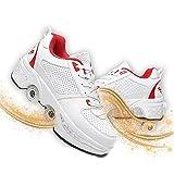 JZIYH Zapatos con Ruedas Zapatillas De Skate para Niños Doble Rodillo Zapatos De Skate Zapatos Invisible De Polea De Zapatos De Doble Propósito para Niños/niñas