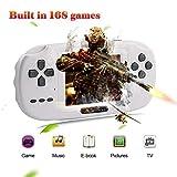 XinXu Consola de Juegos de Mano, Consola 2.8 'LCD PVP PLUS Juego de Jugador Clásico Consola de Juegos de Mano 168 Juegos en 1 USB Carga Regalo para Niños (Blanco)