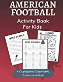 american football activity book for kids: cryptogram, word search, mazes, sudoku, crossword and kakuro activity book for kids 2nd grade and over