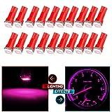 cciyu 20 Pack T5 73 74 Dashboard Gauge 5050SMD LED Wedge Light Bulb (20pack pink)