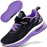 Autper Kids Air Tennis Running Shoes Memory Foam Athletic Lightweight Sports Walking Sneakers for Boys Girls (Big Kid Purple US 4)
