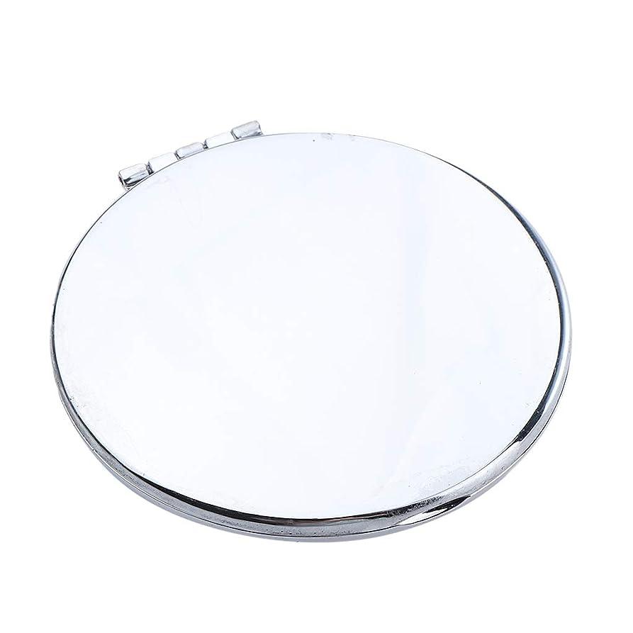 神効率的にに対応するポータブルポケットミラーコンパクトメイク化粧品ファッション虚栄心ミラー - 円形