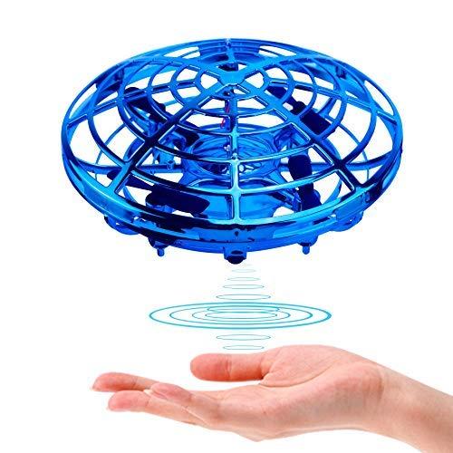 Beedove Mini UFO Drone per Bambini, Palla Volante Giocattolo Rotanti 360 °Controllati a Gesto Flying Ball, RC Quadricottero Induzione a Infrarossi con Luci a LED, per Ragazzi e Ragazze e Esterno