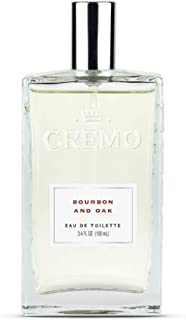 Cremo Bourbon & Oak Cologne Spray, A Sophisticated Blend of Distiller's Spice, Fine Bourbon and White Oak, 3.4 Oz