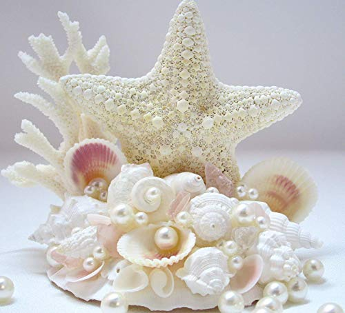 Beach White Starfish For Her Personalized Sea Glass Ocean Inspired Boho Initial and Pearl