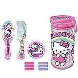 Neceser cilindrico con Accesorios Pelo de Hello Kitty