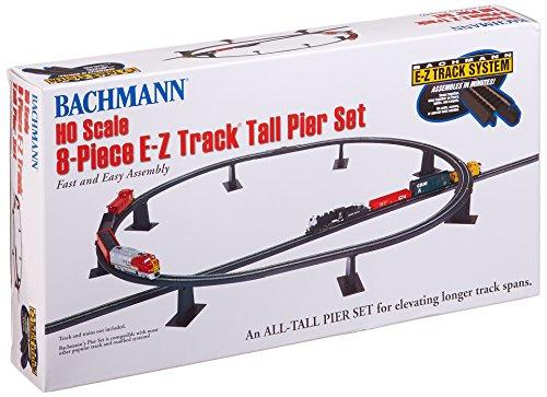 Bachmann Trains 8 PC. E-Z TRACK TALL PIER SET - HO Scale