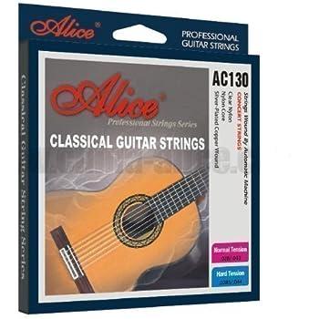 Alice Cuerdas para Guitarra Clásica Acústica de Nailon AW130N ...