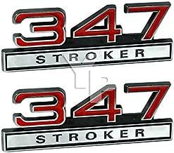 347 5.7 Liter Engine Stroker Emblems in Chrome & Red - 4