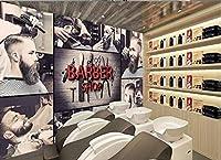 Afashiony写真の壁紙壁の壁画シルクプレミアム壁紙Hdプリントポスター壁アート画像現代の壁の装飾理髪店レトロヘアサロン背景-400Cmx280Cm