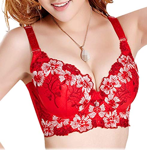 Vrouwen Bra Dchen borduurwerk Super instelbaar BH Elegant Vintage Bloemenprint Fashion Modieuze Gezellige lingerie Underwear