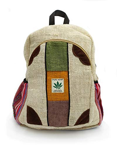 Rucksack aus Hanf, Natürliche Tasche, Handgemacht in Nepal, Rolpa