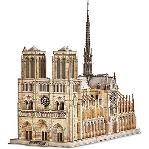sookin Puzzle 3D Francia Notre Dame de Paris Modelo Juego de Rompecabezas Kits de Construcción Lglesia Gótica Los Mejores Regalos para NiñOs y Adultos 293 Piezas DecoracióN