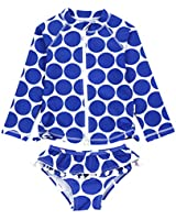 SwimZip Girls Long Sleeve Rash Guard Swim Shorts Set with UPF 50 SZILSSHORTSET3PC01