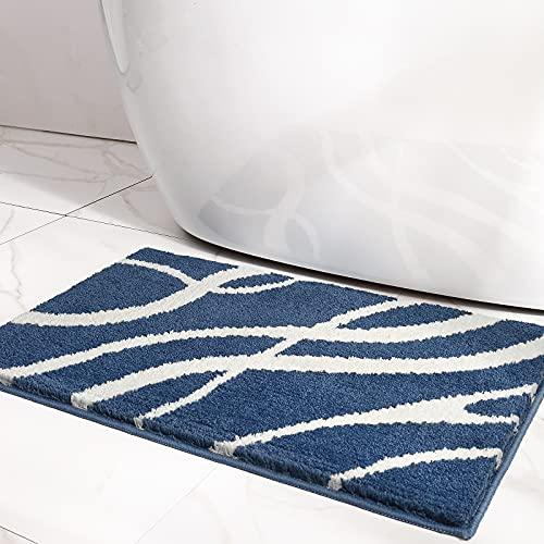 DEXI Tappetino da Bagno Antiscivolo,Tappeto Bagno in Microfibra,Morbido,Assorbenti d'Acqua,Lavabili in Lavatrice(40 x 60 cm,Blu Reale)