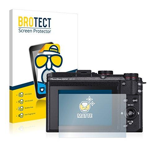 BROTECT 2X Entspiegelungs-Schutzfolie kompatibel mit Canon PowerShot G3 X Bildschirmschutz-Folie Matt, Anti-Reflex, Anti-Fingerprint