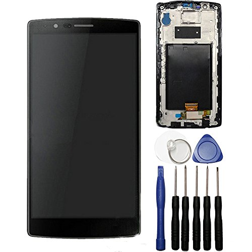 BlastCase BlastCase LCD Display Touch Screen Digitizer Assembly for LG G4 with Frame + Tools (Black)