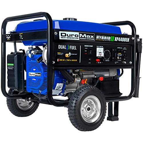 DuroMax XP4400EH, 3500 Running Watts/4400 Starting Watts, Dual Fuel Powered Portable Generator