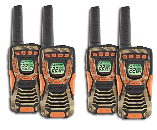 COBRA CXT1045R-FLT 37 Mi Waterproof Floating 2-Way Radio Walkie Talkies 4-Pack