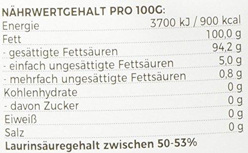 MeaVita Bio Kokosöl, nativ, DE-ÖKO-037, 1er Pack (1 x 1000 ml) im Drahtbügelglas - 10