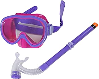 Smolisi Kids Youth Water Sports Silicone Scuba Swimming Swim Diving Mask Snorkel Glasses Anti Fog Goggles Set