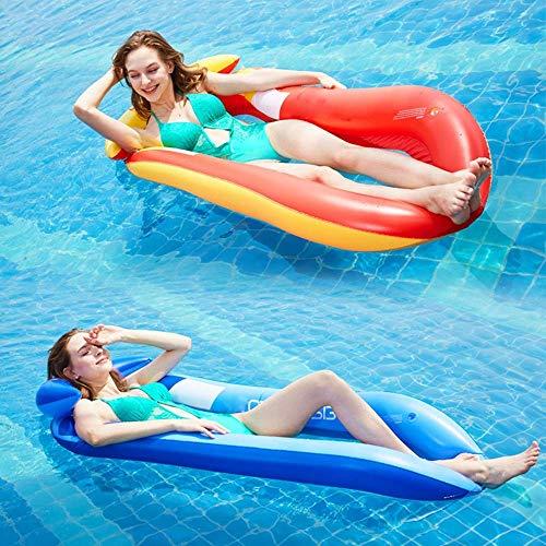 Gcxzb Schwimmreifen Luftbetten aufblasbare Net Floating-Reihe Erwachsener Persönlichkeits-Recliner Wasser-aufblasbares Sofa-Schwimmring-Pool-Float-Riese