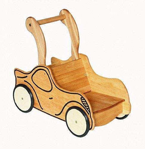 Unbekannt 934-3111 Drewart Puppenwagen aus Holz massiv Lauflernwagen Lauflernhilfe Auto