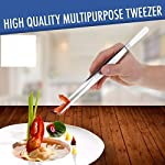 2 Pcs Straight and Curved Tip Tweezers 12 Inch, Stainless Steel Precision Tweezers Set with Serrated Tips Comfortable… 9 MULTIPURPOSE TWEEZERS – Our stainless steel tweezer comes in a set of 2, straight and curved tweezers, with different shapes eases your life, as cooking tweezer and especially for water plant decorations. Our craft tweezers with delicate clip end will not harm your small or thin water plants. SUPER SECURE - Our straight and curved tweezers have serrated tips to help grip stuff securely without ever slipping off. The ridged handle also provides secure, comfortable grips on your fingers. Our pointed tweezers is strong and not easily bent! PREMIUM STAINLESS STEEL - Imagine. A Heavy duty forceps, long-lasting stainless steel tweezer that could withstand extreme heat, as well as rust and corrosion-free. Our cooking tweezers is dishwasher safe! Use it as needle nose tweezers, electrical repairing, cooking, serving, crafting, and many more.