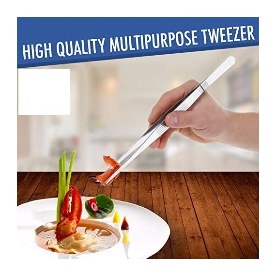 2 Pcs Straight and Curved Tip Tweezers 12 Inch, Stainless Steel Precision Tweezers Set with Serrated Tips Comfortable… 2 MULTIPURPOSE TWEEZERS – Our stainless steel tweezer comes in a set of 2, straight and curved tweezers, with different shapes eases your life, as cooking tweezer and especially for water plant decorations. Our craft tweezers with delicate clip end will not harm your small or thin water plants. SUPER SECURE - Our straight and curved tweezers have serrated tips to help grip stuff securely without ever slipping off. The ridged handle also provides secure, comfortable grips on your fingers. Our pointed tweezers is strong and not easily bent! PREMIUM STAINLESS STEEL - Imagine. A Heavy duty forceps, long-lasting stainless steel tweezer that could withstand extreme heat, as well as rust and corrosion-free. Our cooking tweezers is dishwasher safe! Use it as needle nose tweezers, electrical repairing, cooking, serving, crafting, and many more.
