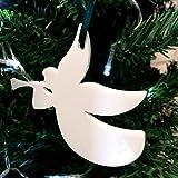 Blanco de la decoración del árbol de Navidad de Ángel trompetas - diez unidades