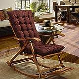 CXZC Cojín de silla de salón de patio de 120 cm, cojines de interior/exterior Chaise Lounge Cojín de silla mecedora para jardín, colchón para silla de gravedad cero