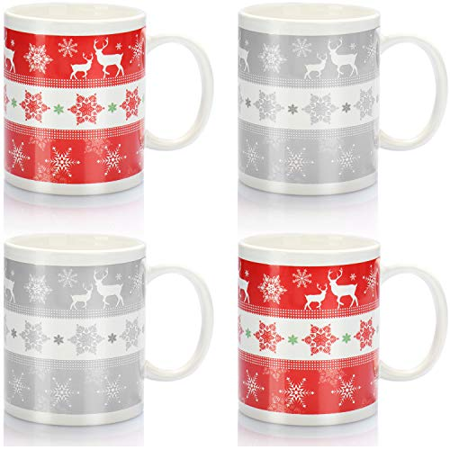 com-four 4X Ceramic Coffee Mug - Coffee Cup with...