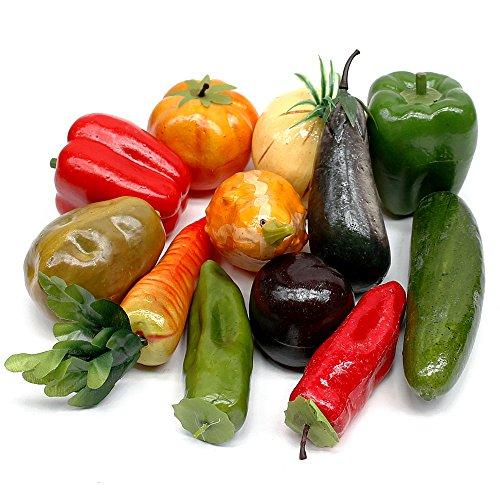 TGG Gemüse Mix, 12 Stück Sortiment künstlich, deko Vegetables/Nice Price !!!