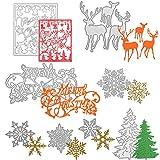 8 Pezzi Fustelle Stencil Fiocco di Neve dell'Albero di Natale Fustelle Stencil Metallo per Scrapbook Fai-Da-Te che Fa Rifornimenti