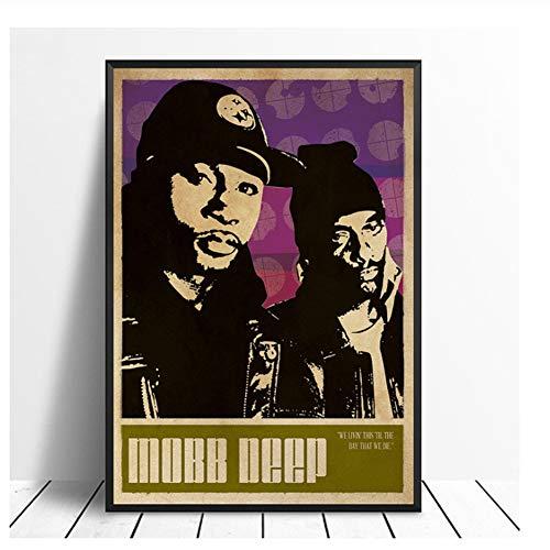 Mobb Deep Music Singer Poster Hip Hop Rap Music Band Star Poster Wall Art Painting Room Home Decor Canvas Print -50x70cm No Frame