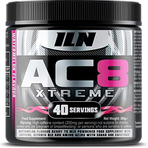 Iron Labs Nutrition, AC8 Xtreme (Watermelon) - Pre-Workout Supplement, 300 grams