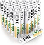 EBL AAA Rechargeable Batteries Ni-MH 1100mAh - High Capacity AAA Battery x 20