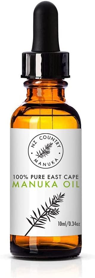 NZ Country 100% Manuka Essential Oil More Effective Than Tea Tree Oil for Skin Conditions like Infected Cuts, Rashes, Acne, Finger and Toe Nail Discoloration, Tinea Boils Roseca