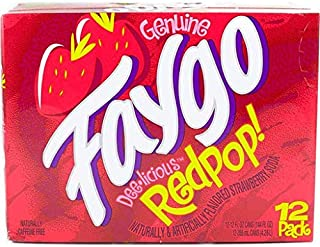 Faygo Soda Redpop 12-ounce 12-pack cans (pack of 1)
