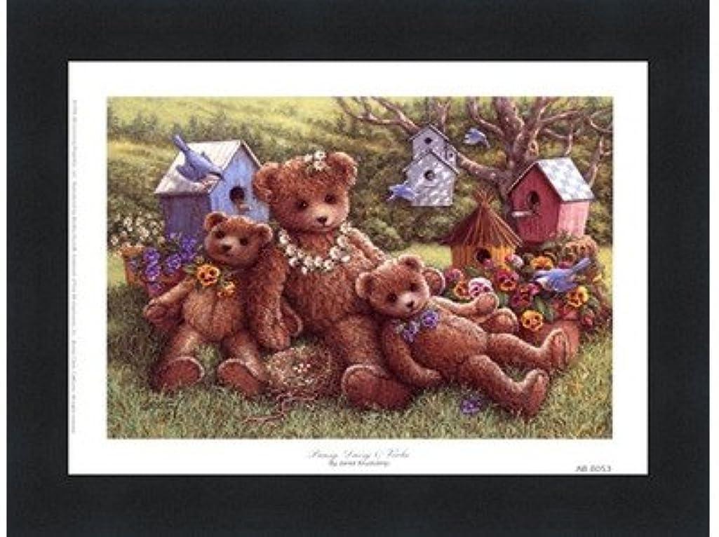 熟したグロー欺くパンジー、デイジーとViola by Janet Kruskamp?–?8?x 6インチ?–?アートプリントポスター LE_71350-F101-8x6