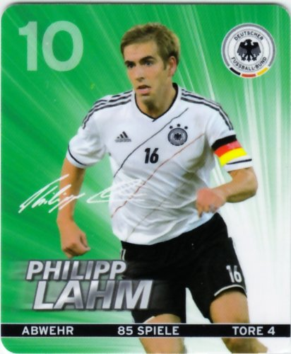 REWE DFB 2012 Sammelkarte - Nr. 10 Philipp Lahm - NEU