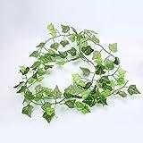 U/D Plantas Artificiales Hanging Hoja Artificial Garland Plantas de Hiedra Vid follaje de Plantas Artificiales de plástico Artículos de Fiesta Boda jardín Decoración del hogar